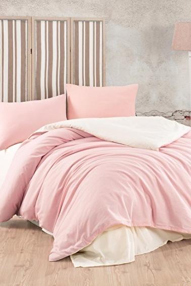 Lady Moda Pink Cream Çift Kişilik Nevresim Takımı Renkli